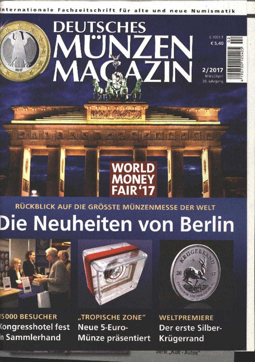 Deutsches Münzen Magazin 22017 Zeitungen Und Zeitschriften Online