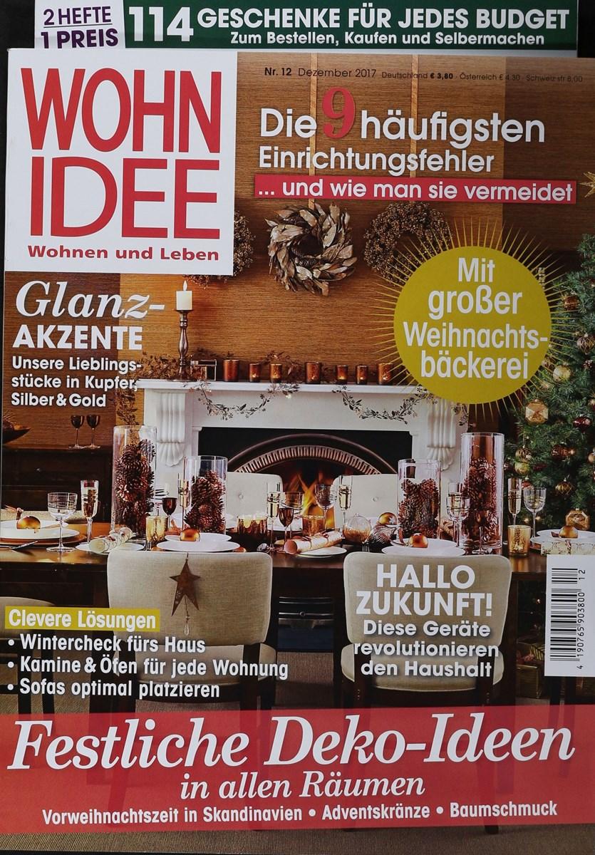 Wohnidee Magazin wohnidee 12 2017 zeitungen und zeitschriften