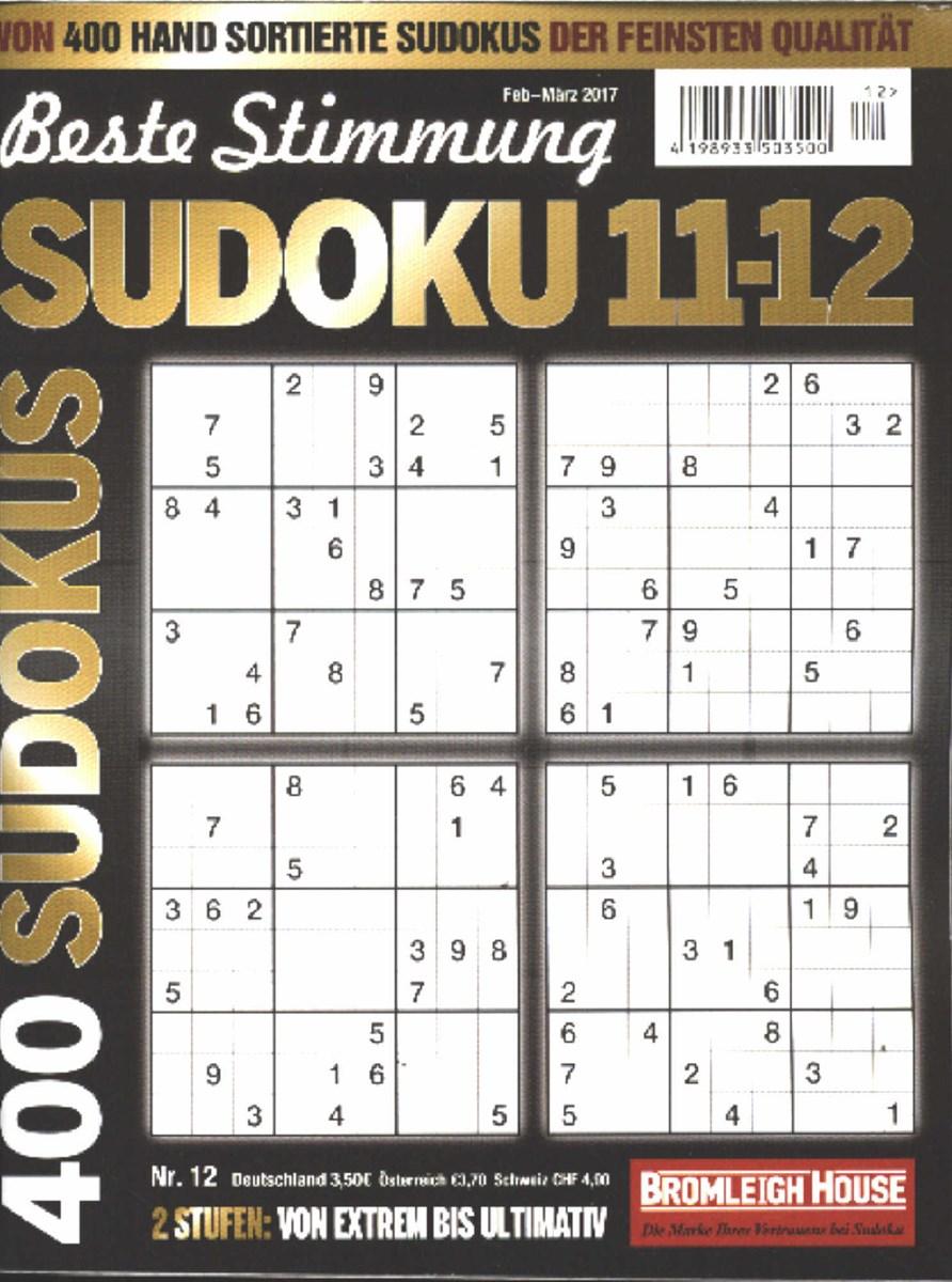 beste stimmung sudoku 11 12 12 2017 zeitungen und. Black Bedroom Furniture Sets. Home Design Ideas