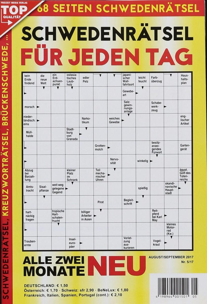 Schwedenrätsel Für Jeden Tag 52017 Zeitungen Und Zeitschriften Online