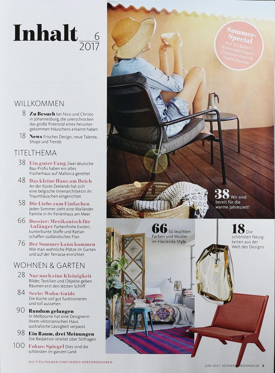sch ner wohnen 6 2017 zeitungen und zeitschriften online. Black Bedroom Furniture Sets. Home Design Ideas