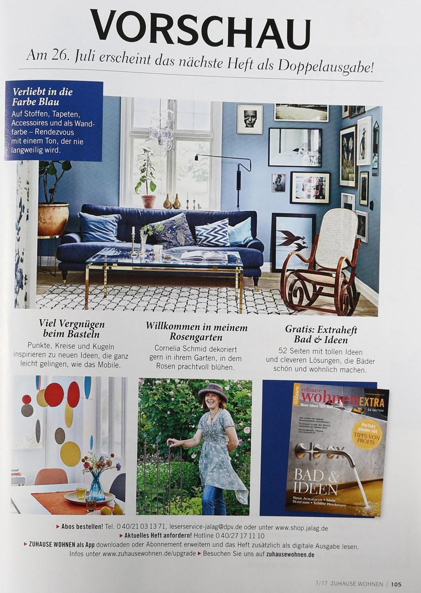 zuhause wohnen 7 2017 zeitungen und zeitschriften online. Black Bedroom Furniture Sets. Home Design Ideas