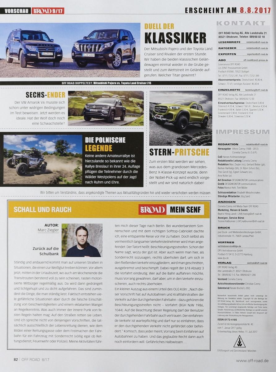 OFF ROAD 8/8   Zeitungen und Zeitschriften online
