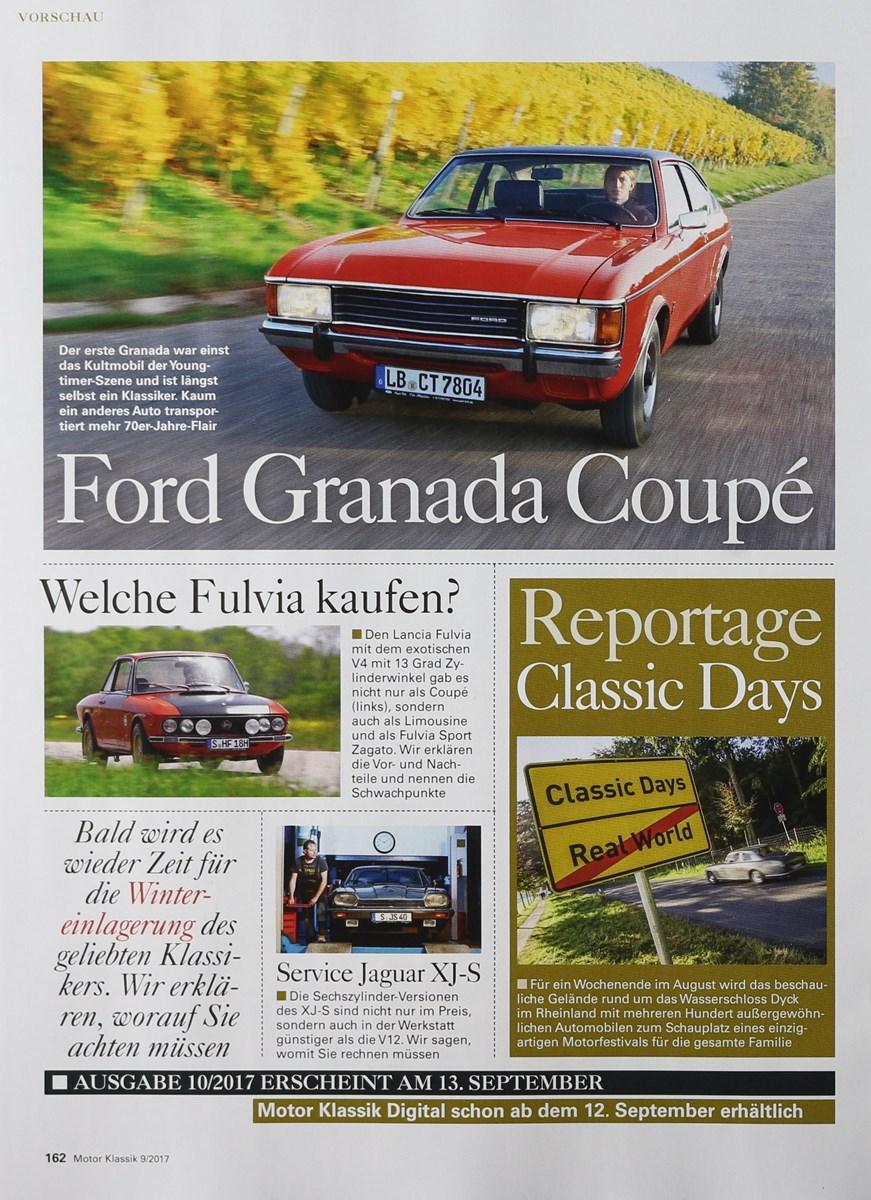 MOTOR KLASSIK 9/2017 - Zeitungen und Zeitschriften online