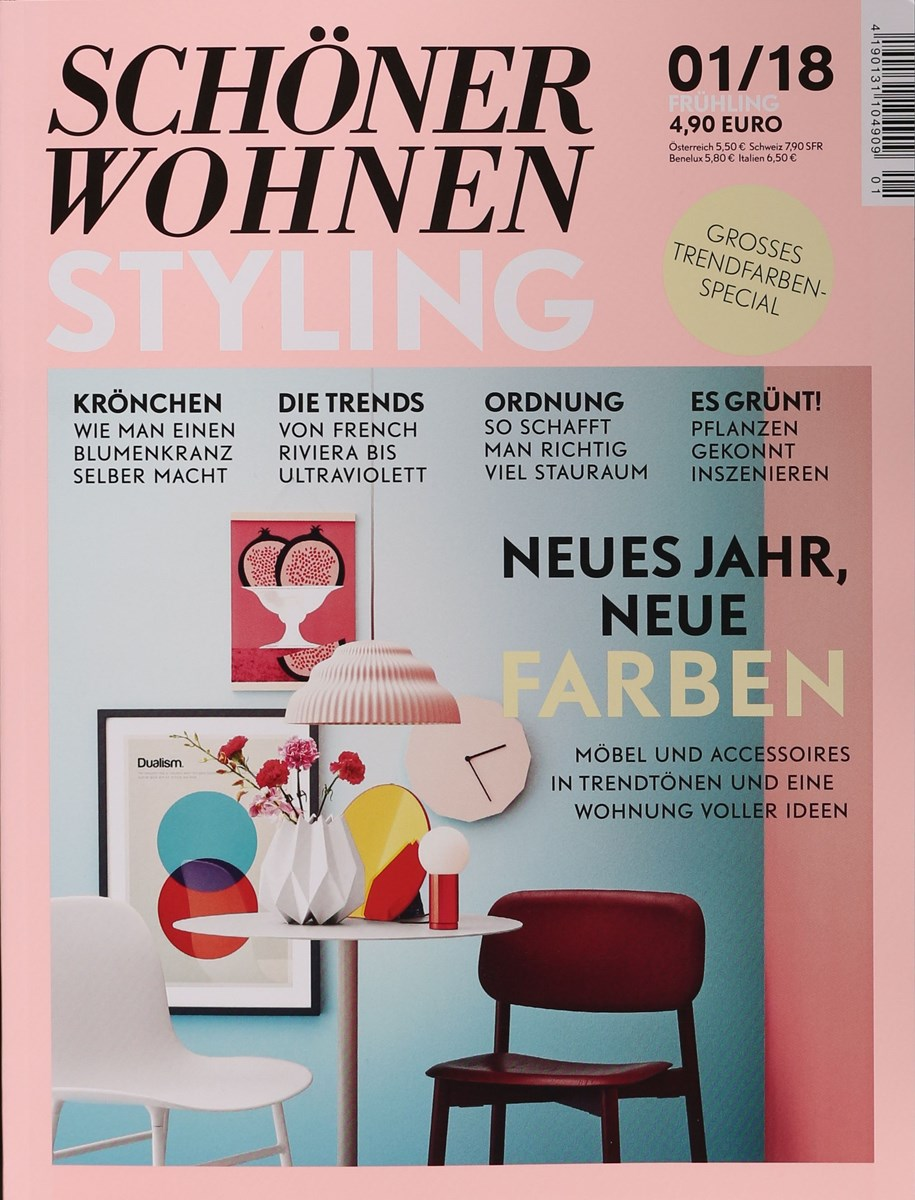 sch ner wohnen styling 1 2018 zeitungen und zeitschriften online. Black Bedroom Furniture Sets. Home Design Ideas