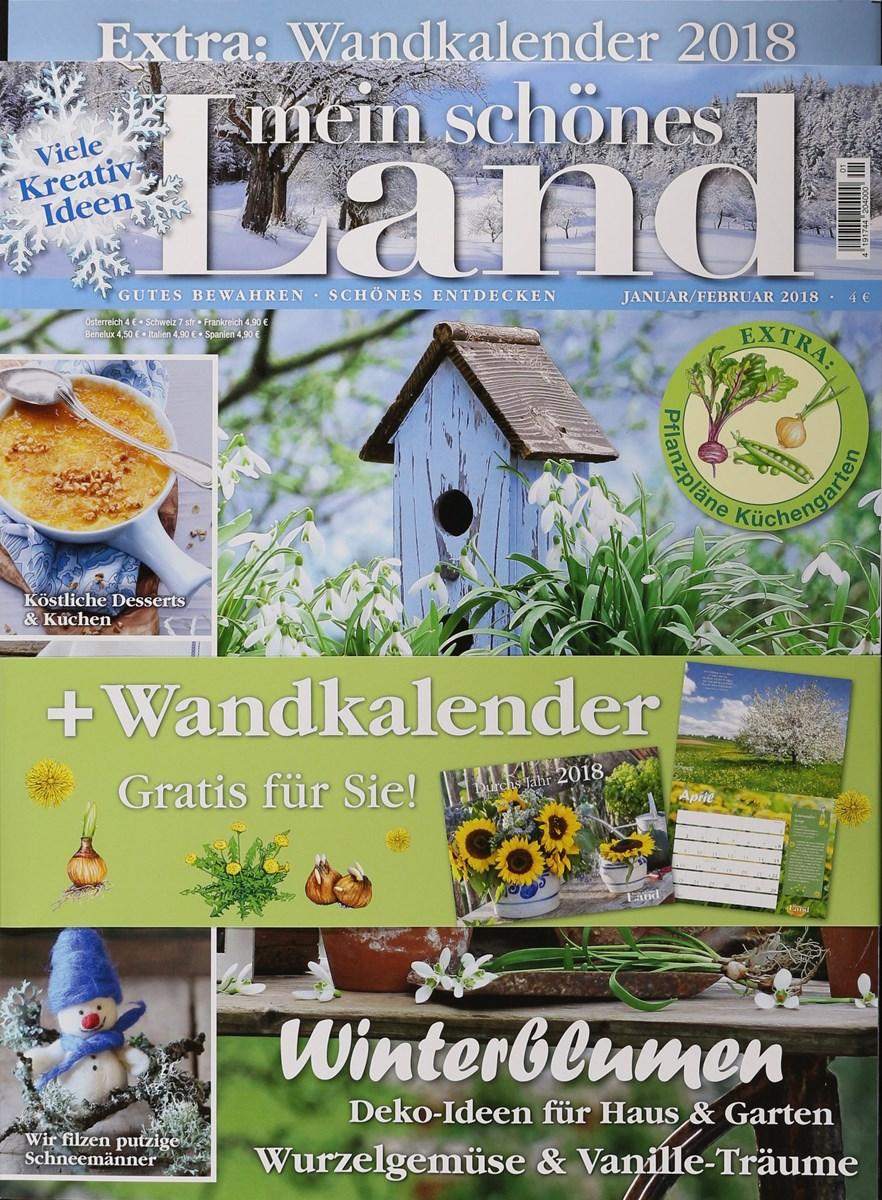 Mein Schönes Zuhause Zeitschrift mein schönes land 1 2018 zeitungen und zeitschriften