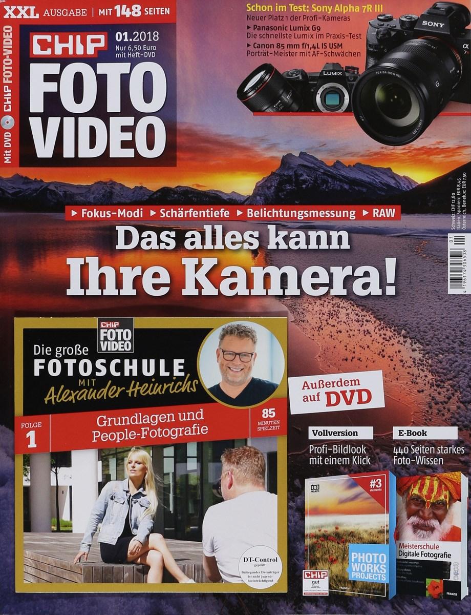 CHIP FOTO VIDEO DVD 1/2018 - Zeitungen und Zeitschriften