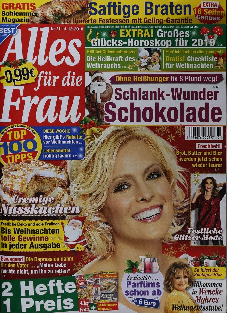 ALLES FÜR DIE FRAU 51/2018 - Zeitungen und Zeitschriften