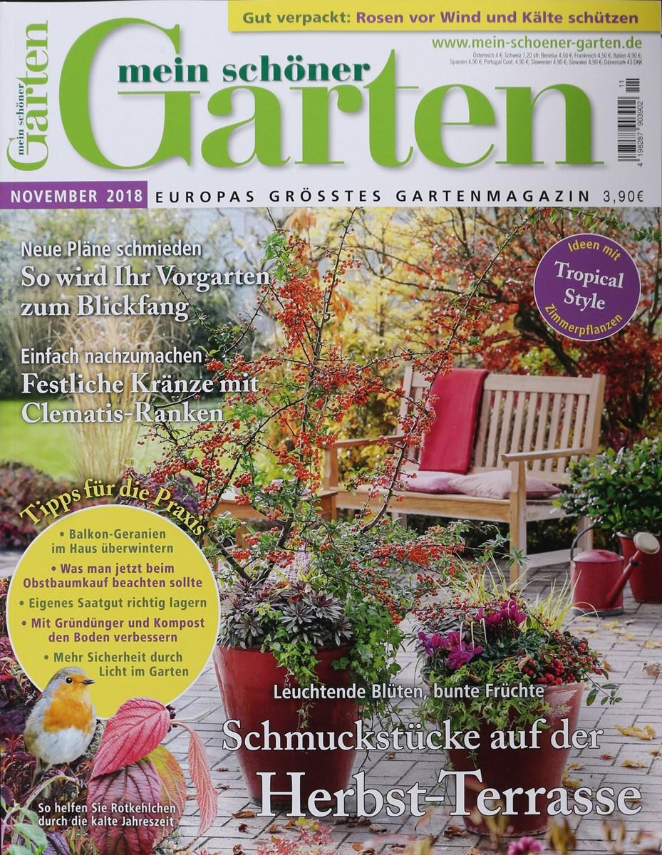 MEIN SCHÖNER GARTEN 11/2018 - Zeitungen und Zeitschriften online