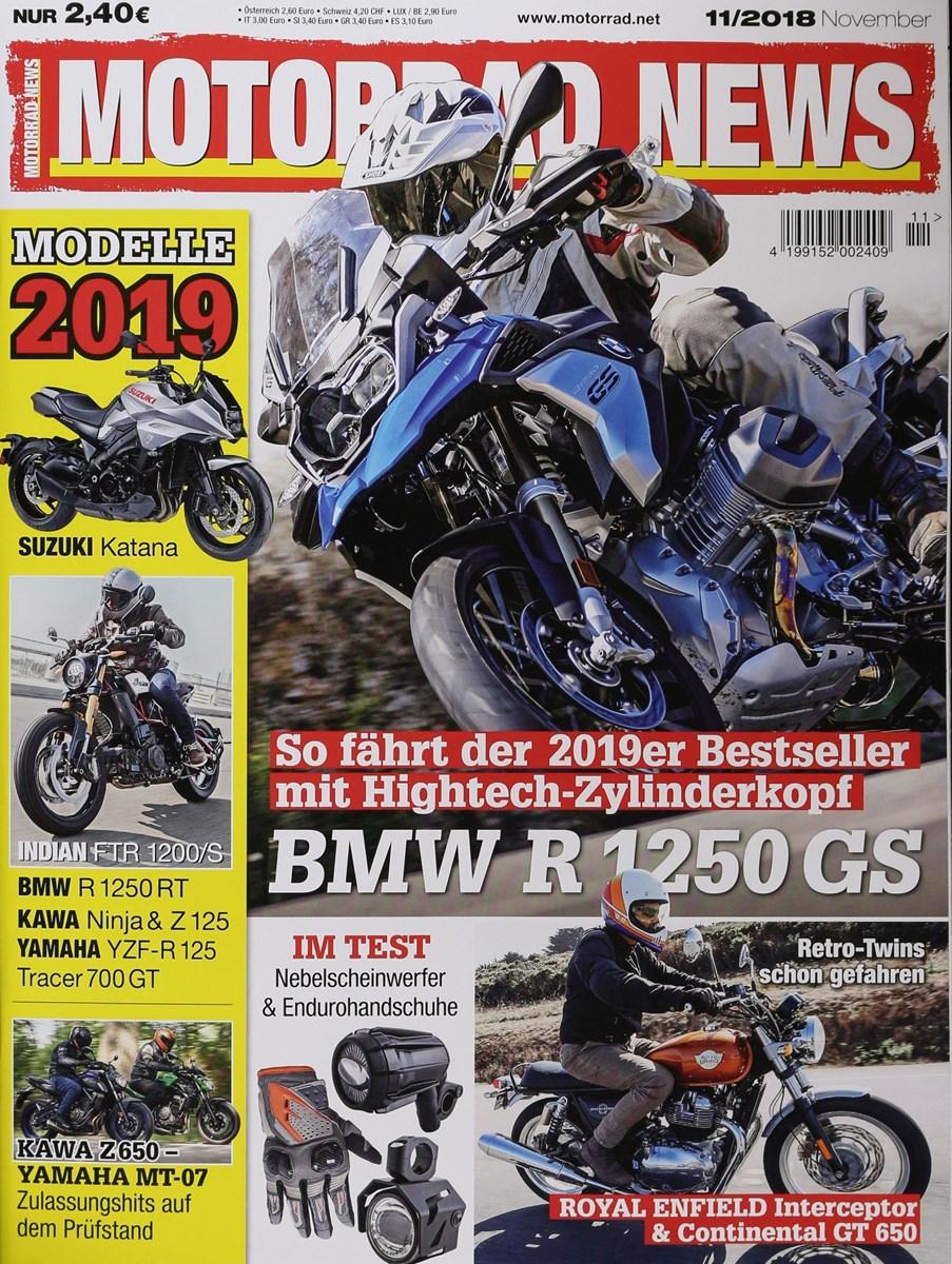 MOTORRAD NEWS 11/2019 - Zeitungen und Zeitschriften online