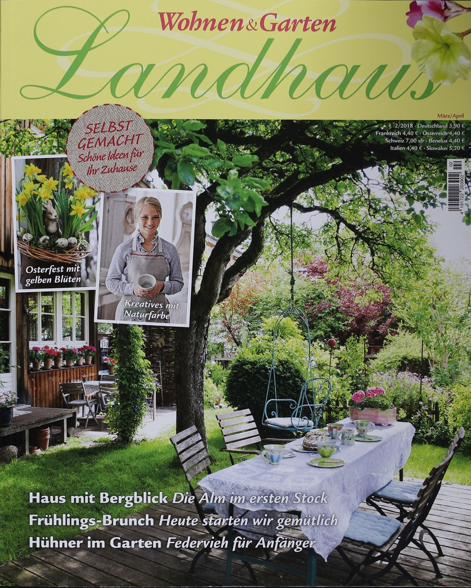 Wohnen Garten Landhaus Zeitschrift wohnen garten landhaus 2 2018 zeitungen und zeitschriften