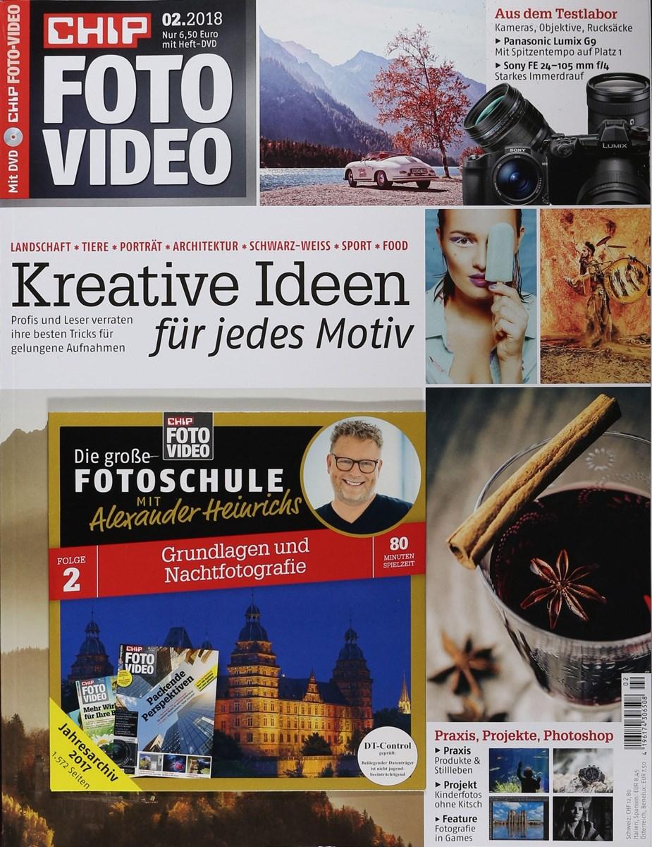 CHIP FOTO VIDEO DVD 2/2018 - Zeitungen und Zeitschriften