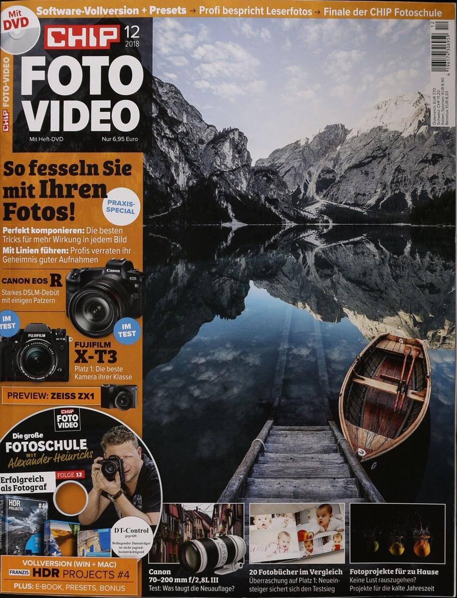 CHIP FOTO VIDEO DVD 12/2018 - Zeitungen und Zeitschriften