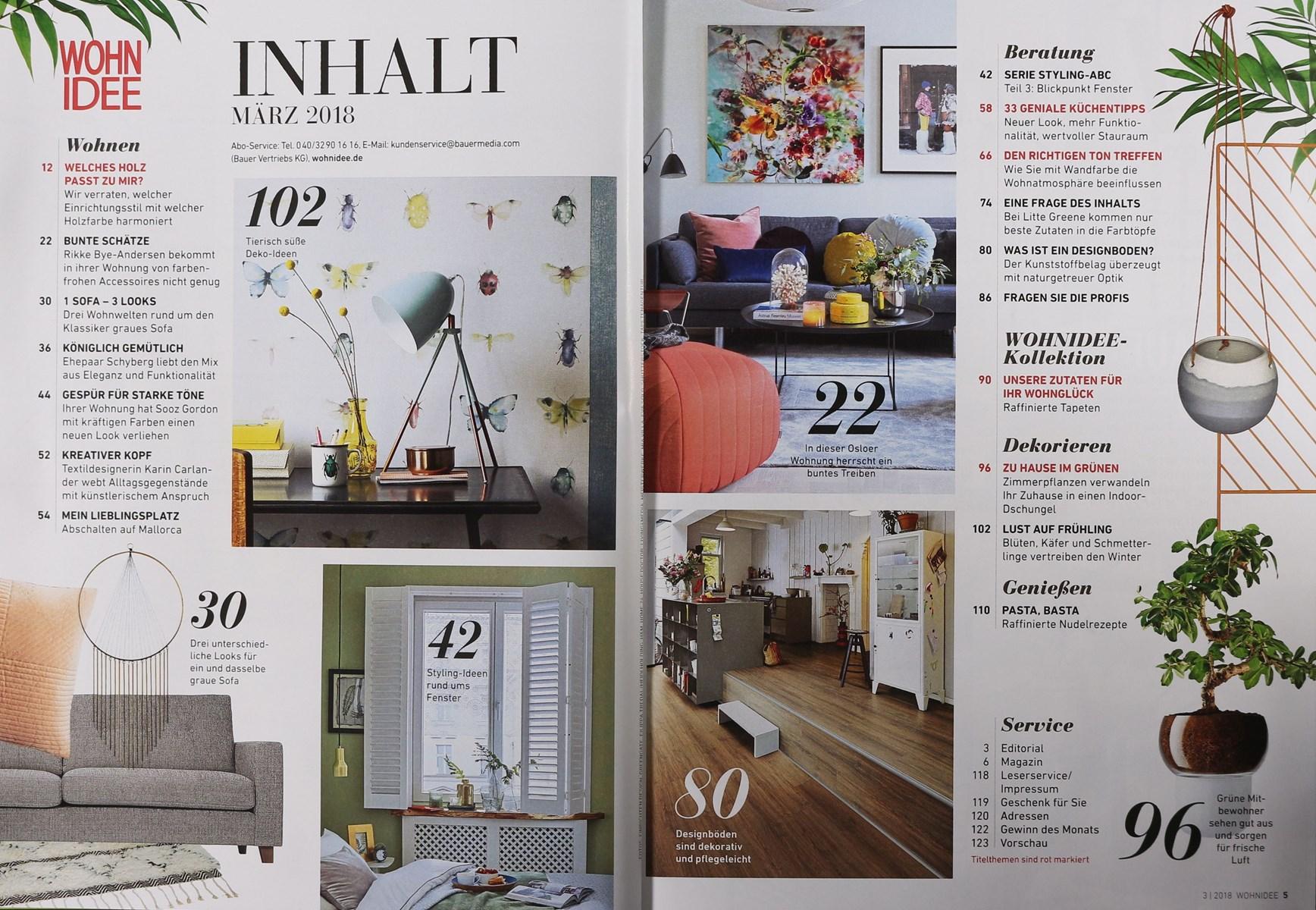 Wohnidee Magazin wohnidee 3 2018 zeitungen und zeitschriften