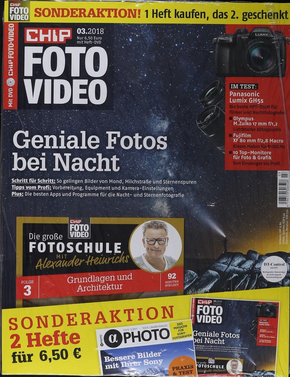 CHIP FOTO VIDEO DVD 3/2018 - Zeitungen und Zeitschriften