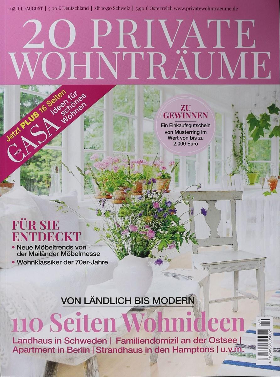 20 PRIVATE WOHNTRÄUME 4/2018 - Zeitungen und Zeitschriften online