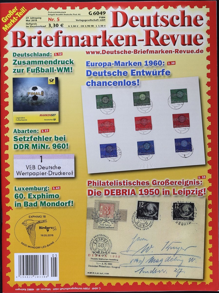 Deutsche Briefmarken Revue 52018 Zeitungen Und Zeitschriften Online