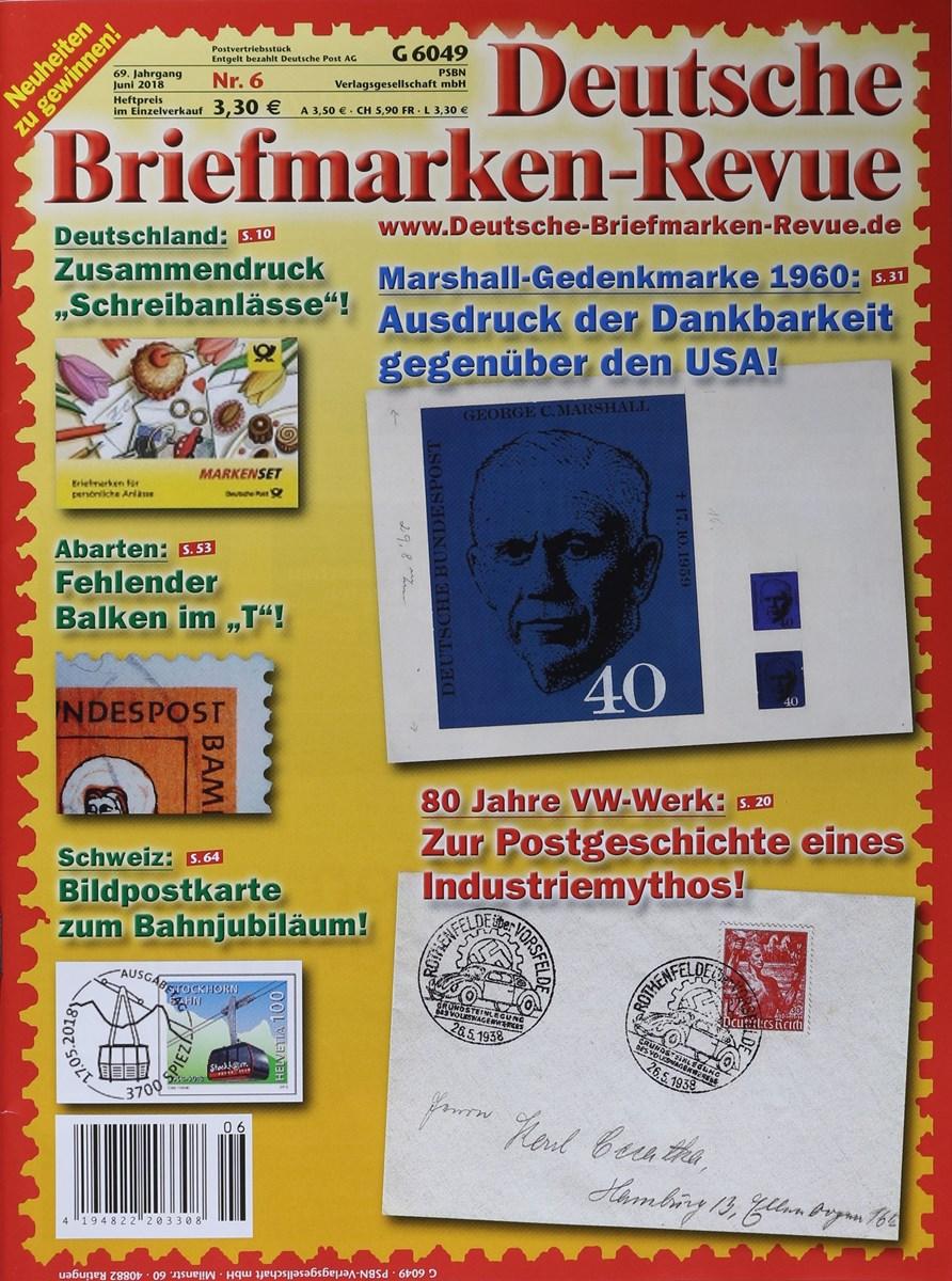Deutsche Briefmarken Revue 62018 Zeitungen Und Zeitschriften Online