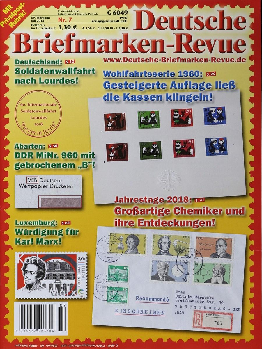 Deutsche Briefmarken Revue 72018 Zeitungen Und Zeitschriften Online