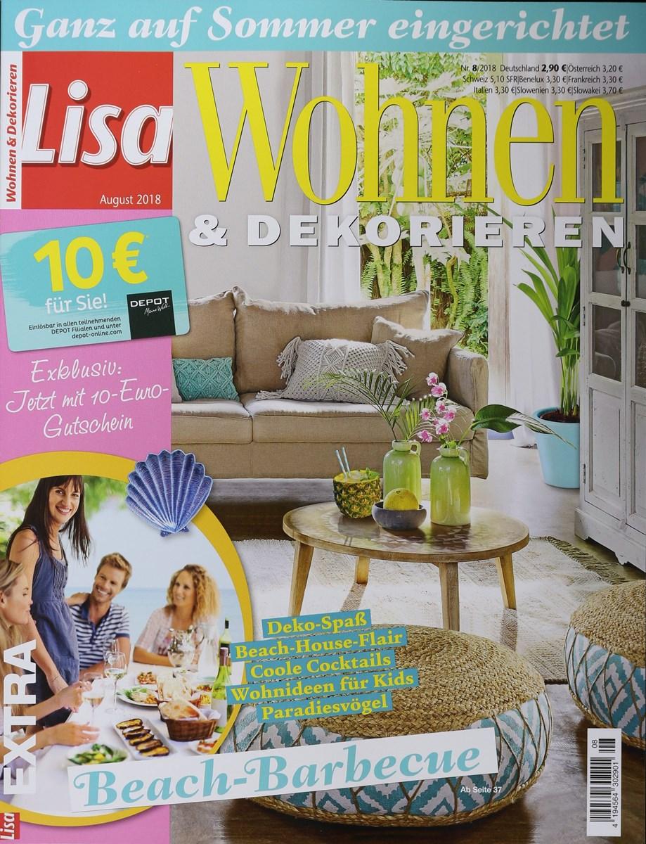 LISA WOHNEN & DEKORIEREN 8/2018 - Zeitungen und Zeitschriften online