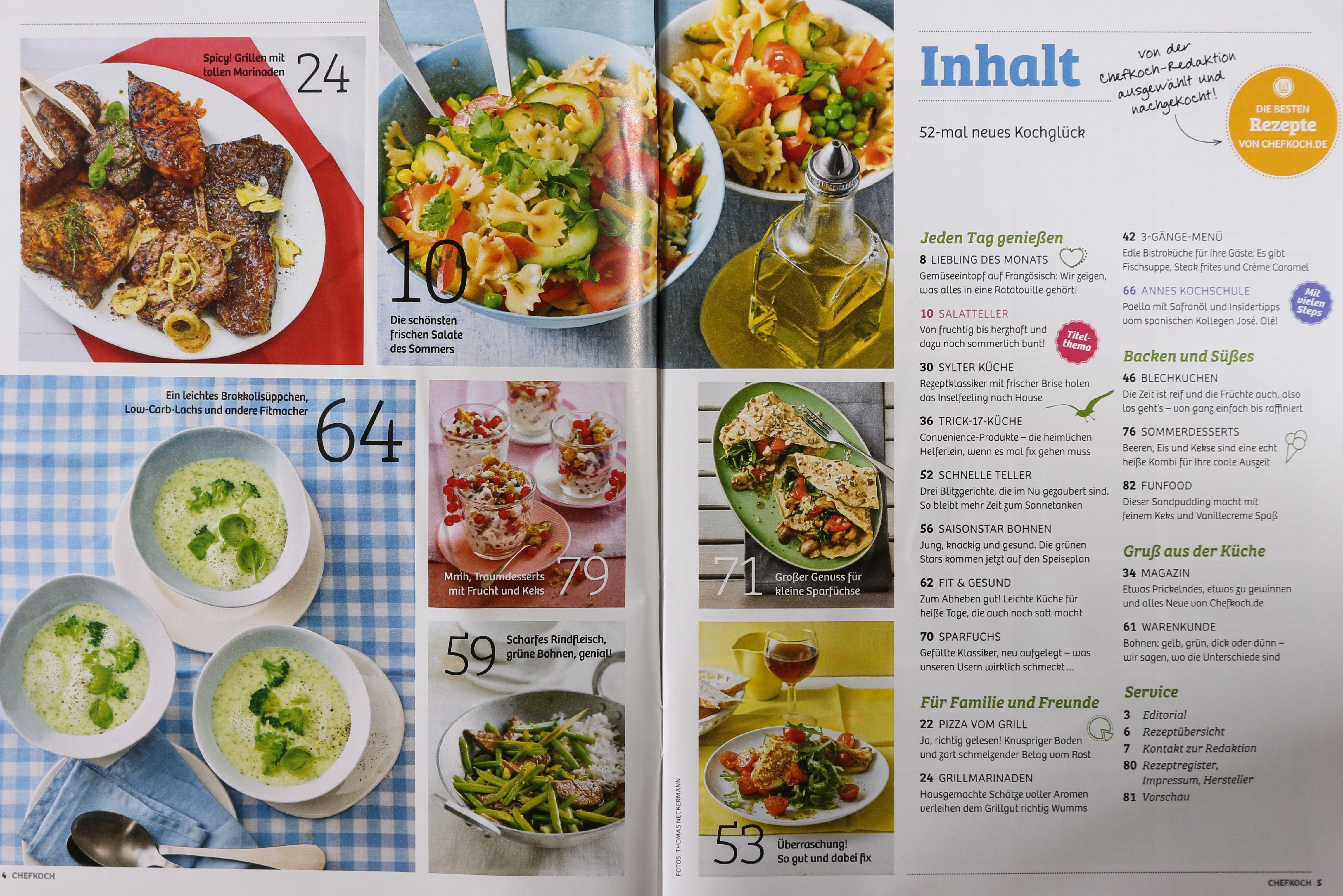 Sommerküche Chefkoch : Leichte sommerküche chefkoch leichte sommergerichte für bewusste