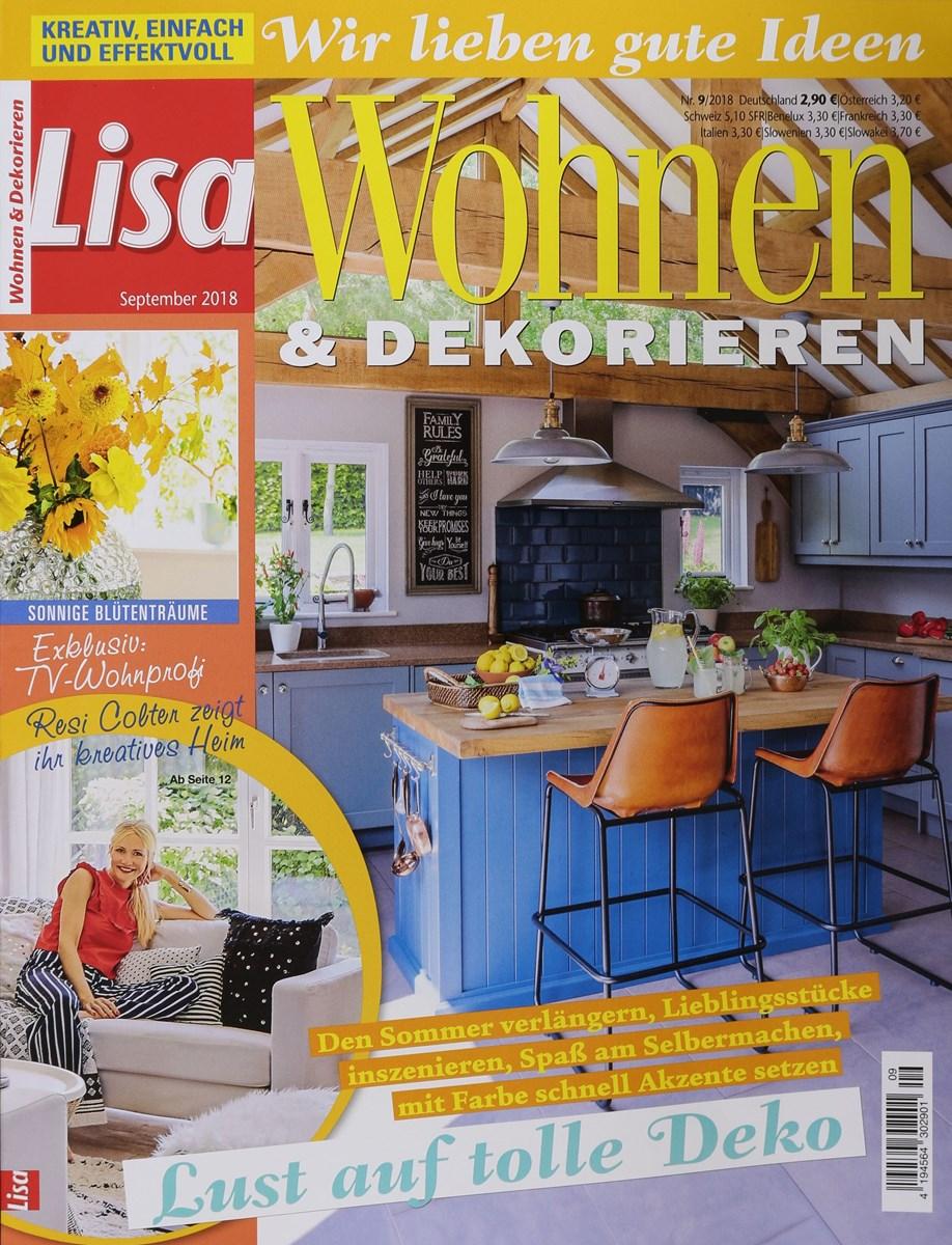 LISA WOHNEN & DEKORIEREN 9/2018 - Zeitungen und Zeitschriften online