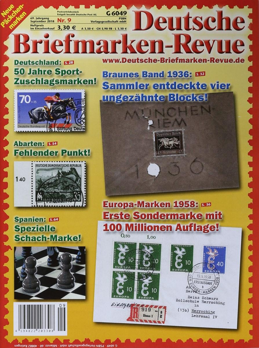 Deutsche Briefmarken Revue 92018 Zeitungen Und Zeitschriften Online