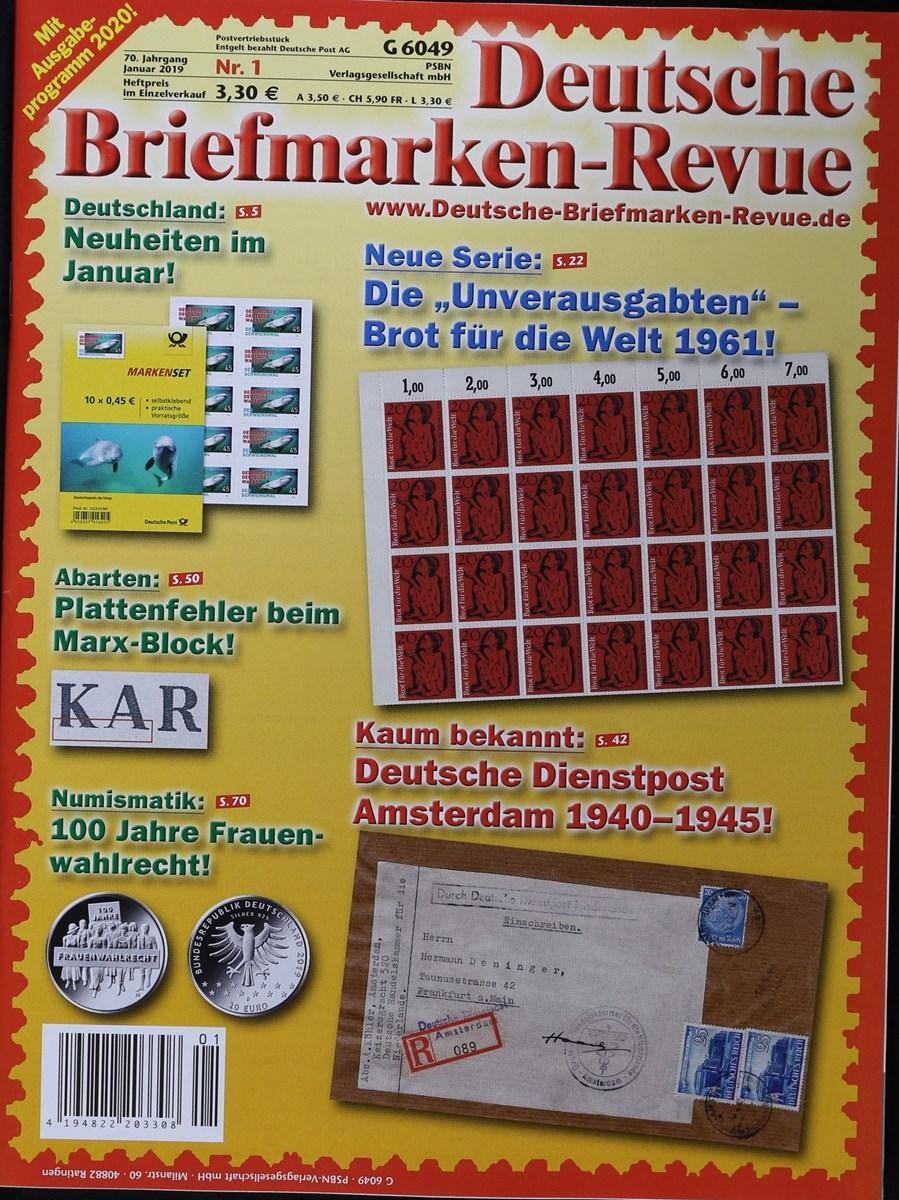 Deutsche Briefmarken Revue 12019 Zeitungen Und Zeitschriften Online