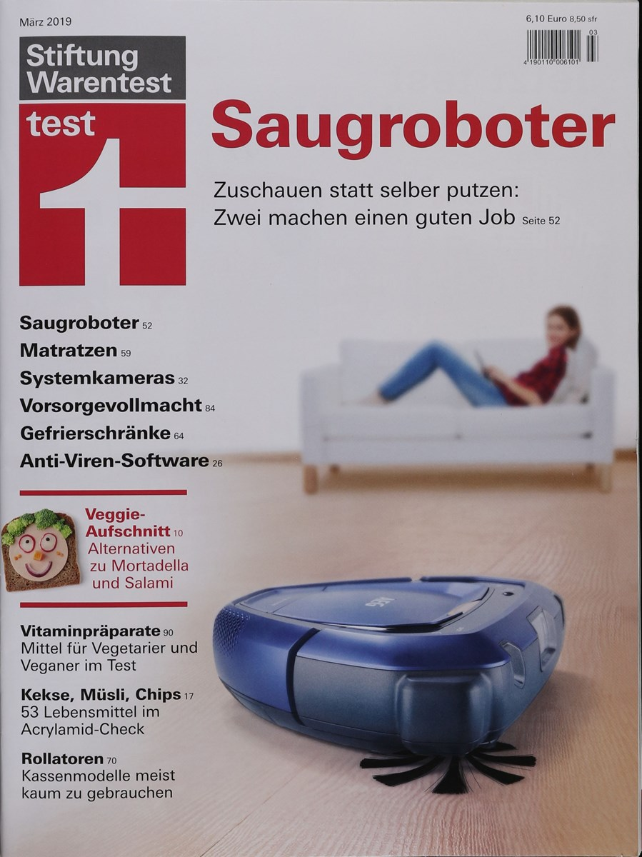 stiftung warentest test magazin 3 2019 zeitungen und. Black Bedroom Furniture Sets. Home Design Ideas